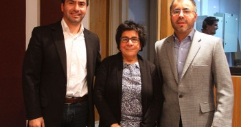 Investigadores del Proyecto, María Isabel Toledo (UDP), Luis Gabriel Guajardo (FACSO-UDP) y Cristián  (U. de Chile)