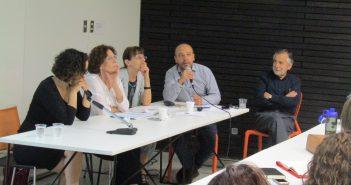 Expusieron en este Seminario: Ximena Díaz (CEM), Cristián Villarroel (MINSAL), Daniela Campos (ACHS) y Juan Pablo Toro (PEPET-UDP)